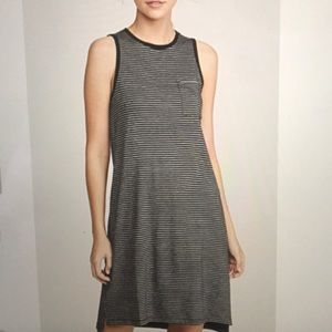 ATM STRIPED JERSEY DRESS